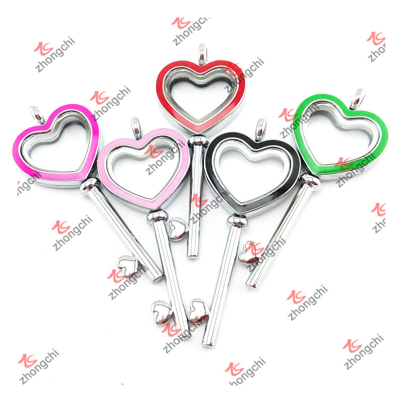 Wholesale Metal Heart Key Charms Pendant Lockets Jewellery for Necklace (HKN50814)
