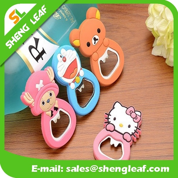 Factory Supllier Cheap Rubber Beer Bottle Opener (SLF-BO005)
