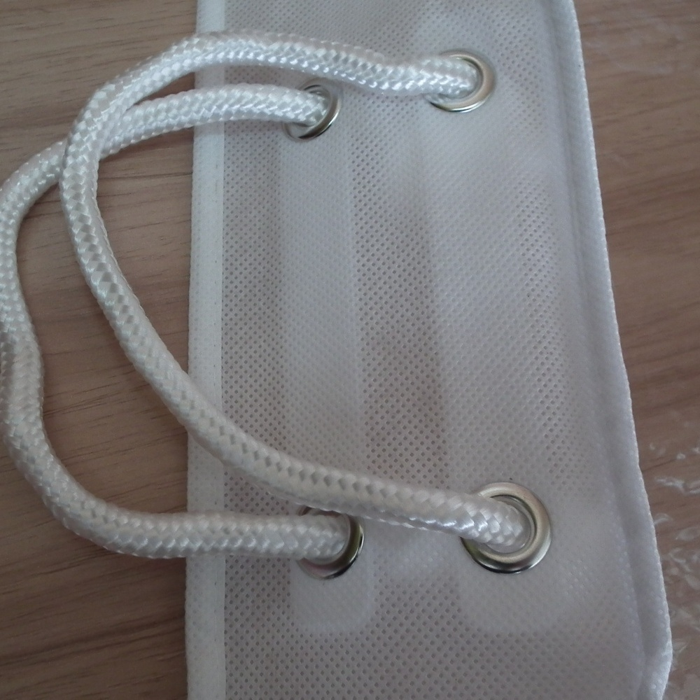 Cotton Rope Non Woven PVC Transparent Quality Pillow Bag