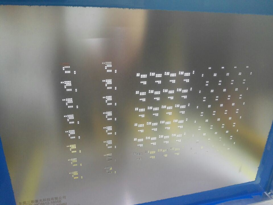 SMT Steel Mesh Laser Cutting Machine for Metal Sheet