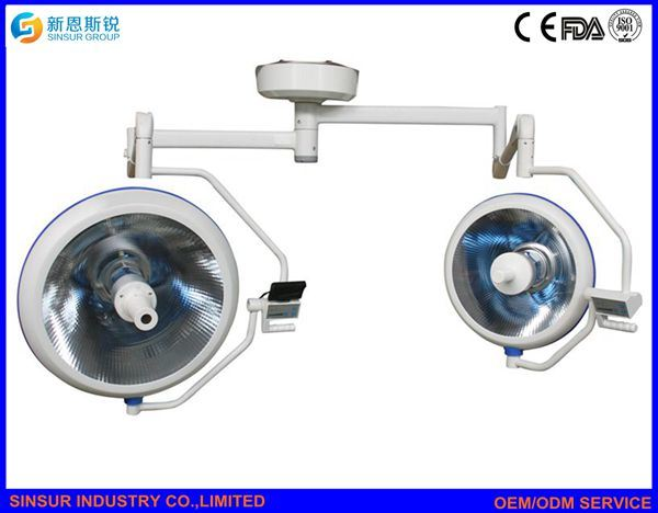 Hospital Equipment Double Dome Cold Light Shadowless Surgical Operating Lamp