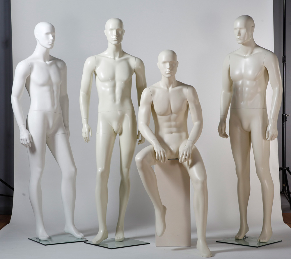 Semiabstract Fiberglass Male Mannequin for Window Display