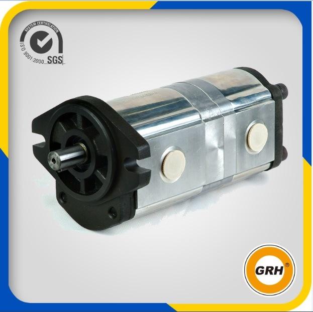 20cc+20cc Aluminum Hydraulic Gear Pump Double Pump
