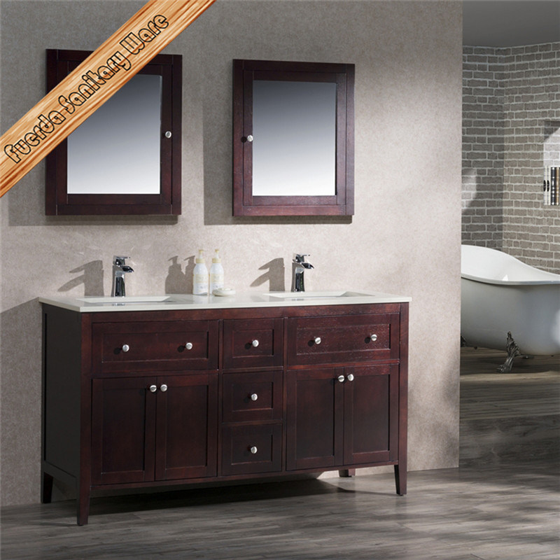 Fed-1960A High Quality Solid Wood Bathroom Vanity Bathroom Cabinet