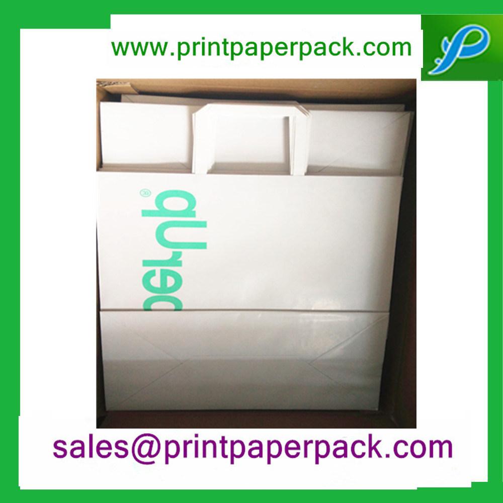 Custom Kraft Paper Carrier Bags with Flat Handles