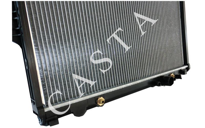 Aluminum Toyota car radiator for Toyota Hilux Innova Diesel (04-)