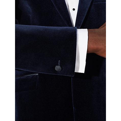 Men′s Peak Lapel Single Button Velvet Suit Blazer for Men