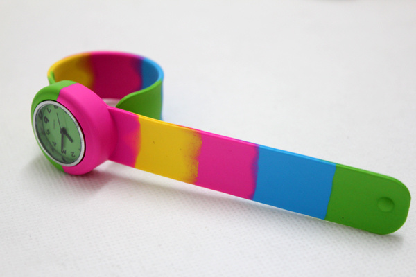 Color Mixture Eco Friendly Creative Silicone Slap Watch