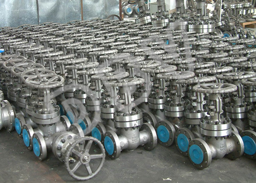 Handwheel Gear Casting Bellow Flanged Gate Valve
