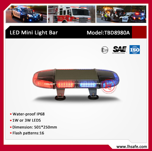 Oval LED Mini Warning Light Bar (TBD8980A)