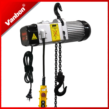 200-400kg Electric Chain Hoist 1/3phase with Intergrated Control Switch