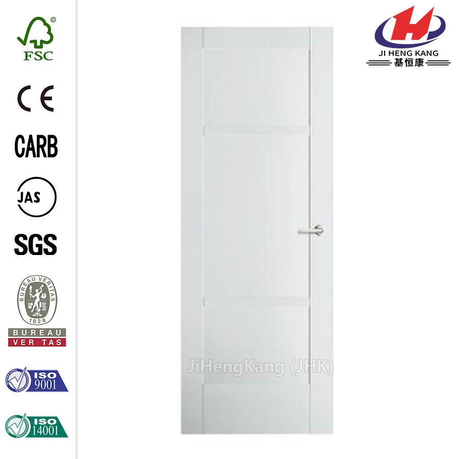 36 in. X 80 in. Primed White 3-Panel Door Slab