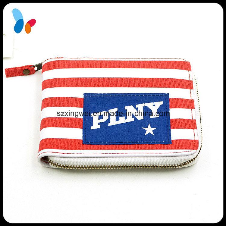 Design Fashion Canvas Women Wallet Card Holder Bag Wallet for Lady