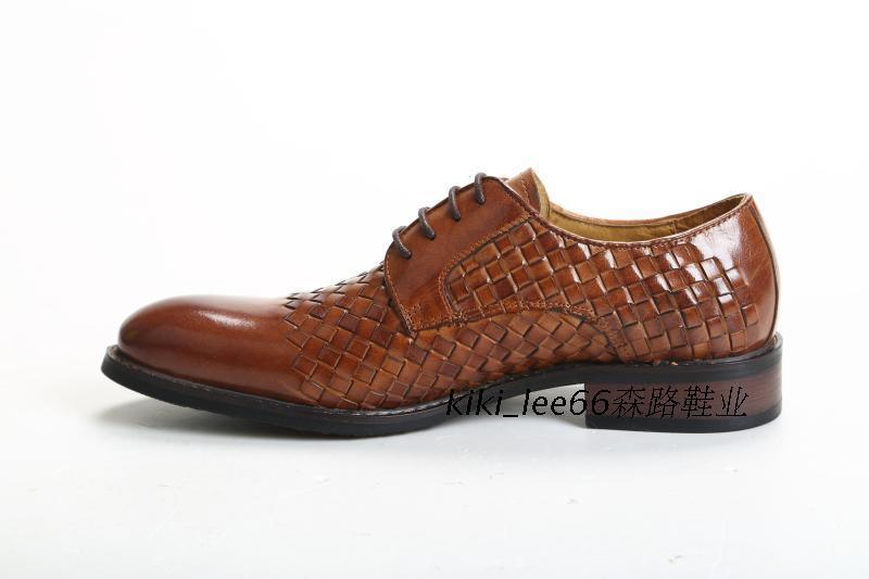 Direct Manufacturer European Trendy Printed Leather Mens Elevator Official Shoes