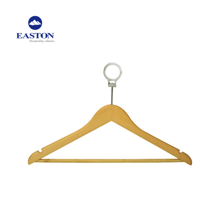 Roud Head Detachable Security Ring Anti-Theft Wooden Hanger pictures & photos