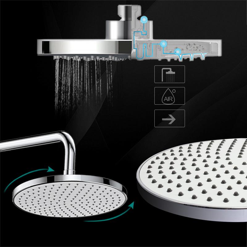 Wall Mounted Rain Shower Set Mixer Shower Set with Hand Shower