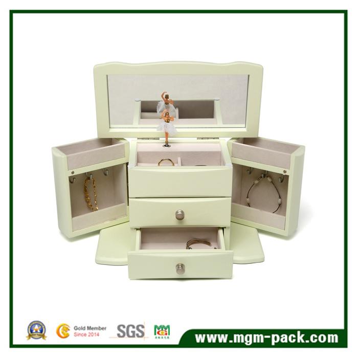 Fashion Handmade PU Leather Cosmetic Jewellery Box