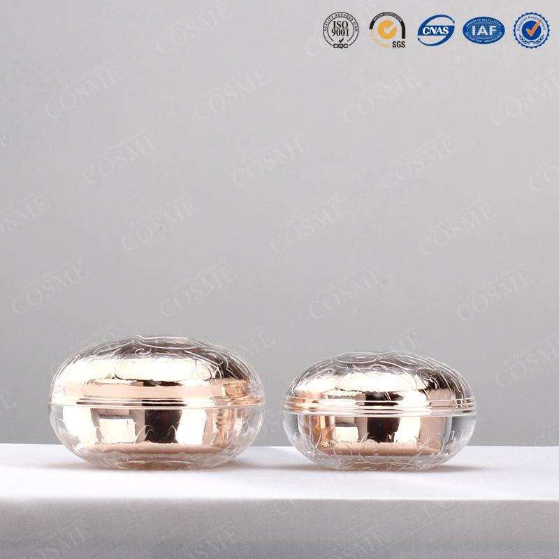 30g 50g High End Luxury Fashion Rose Plastic Acrylic Cosmetic Cream Jar