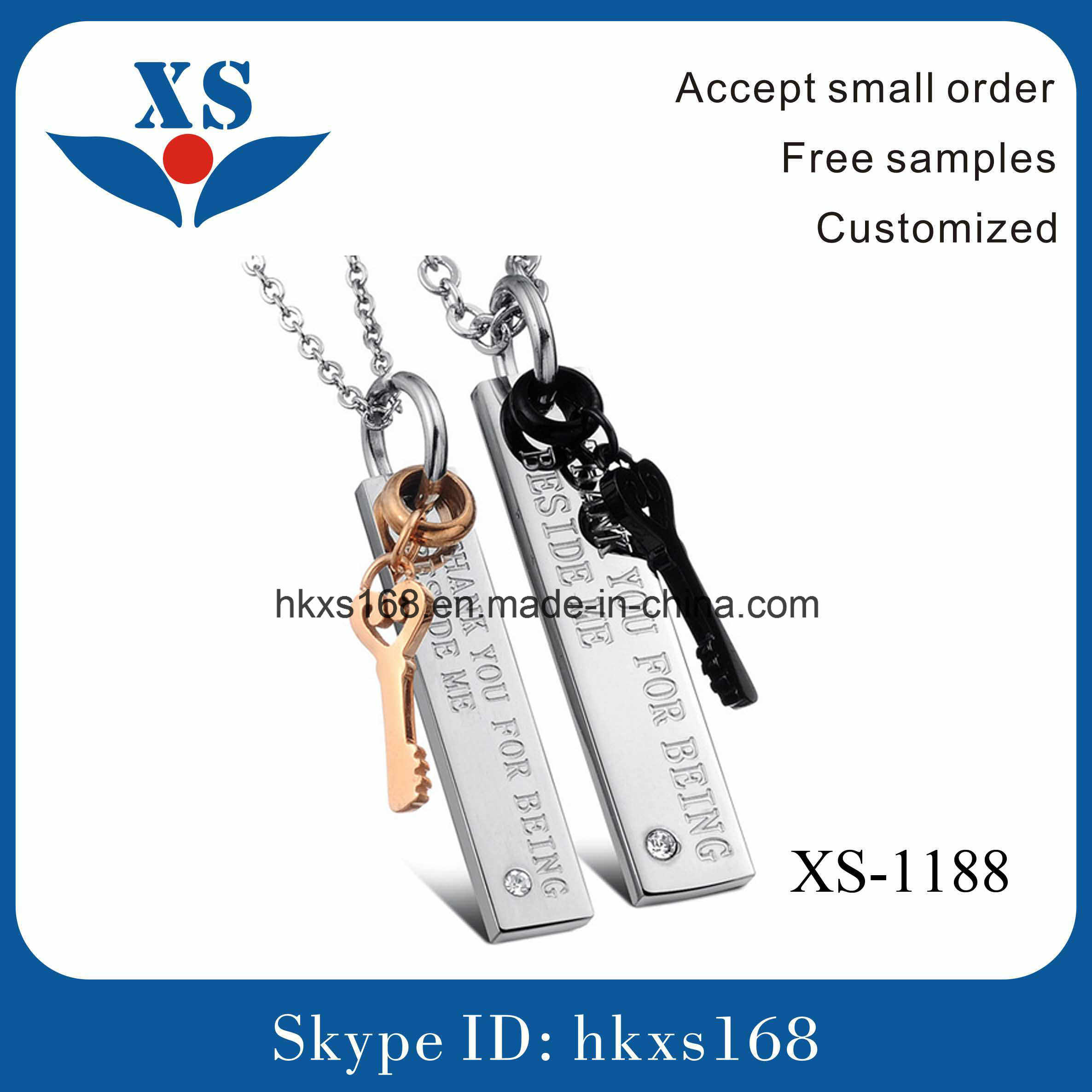 Fashionable Couple Stainless Steel Pendant
