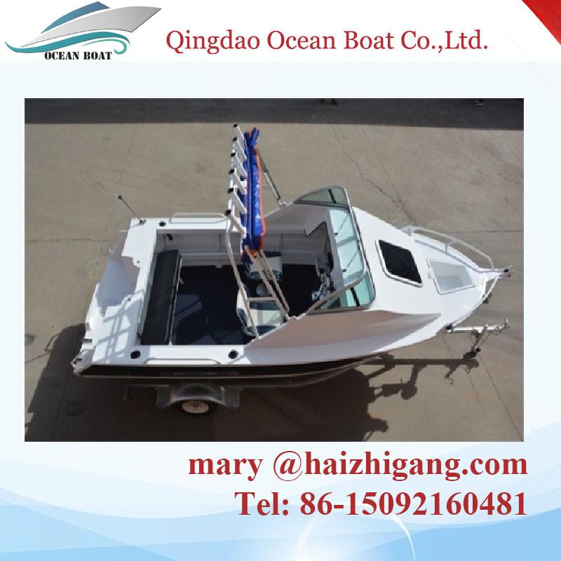 5.0m 17FT Aluminum Fishing Yatch Cuddy Cabin Press Boatwith Ce Certification