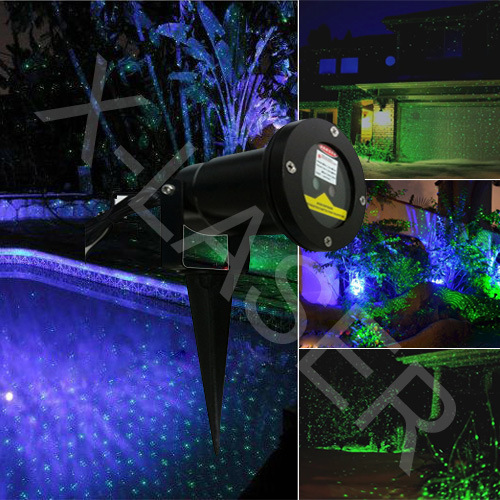 Outdoor Blue Moving Firefly Garden Laser Light /Grass Light