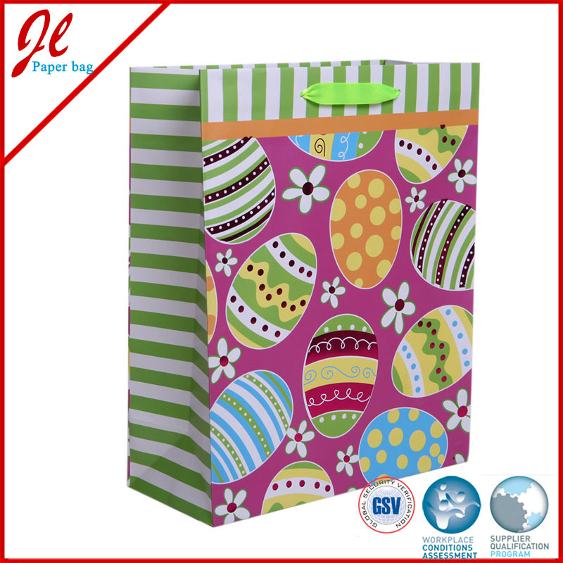 Ctory Direct Easter Paper Bags for Easter with Hang Tag Hot Stamping