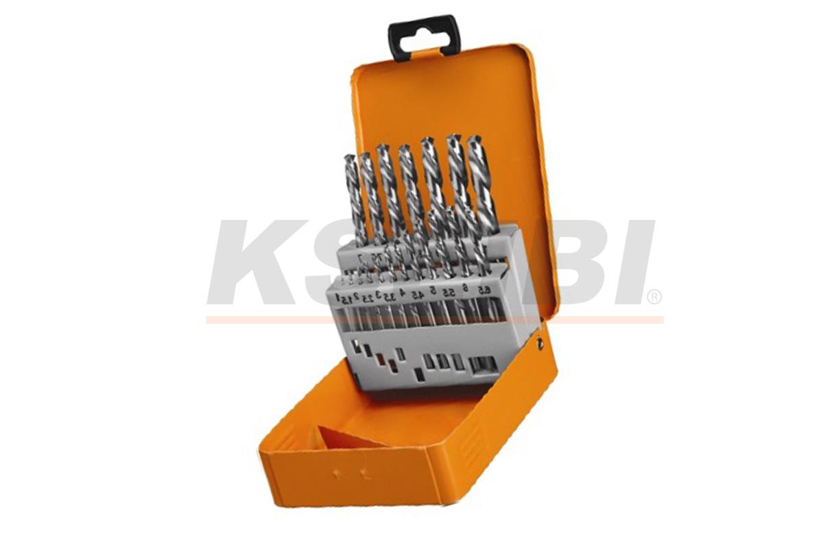 Metal Box 19PCS HSS Metal Twist Drill Bits Set