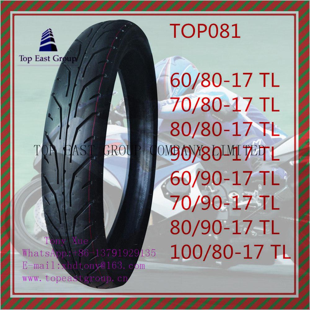 Tubeless, ISO Nylon 6pr Motorcycle Tyre 60/80-17tl, 70/80-17tl, 80/80-17tl, 90/80-17tl, 60/90-17tl, 70/90-17tl, 80/90-17tl, 100/80-17tl