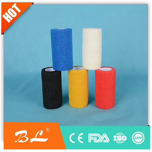 2017 Hot Sales Colorful Medical Sport Self-Adhesive Cohesive Bandage