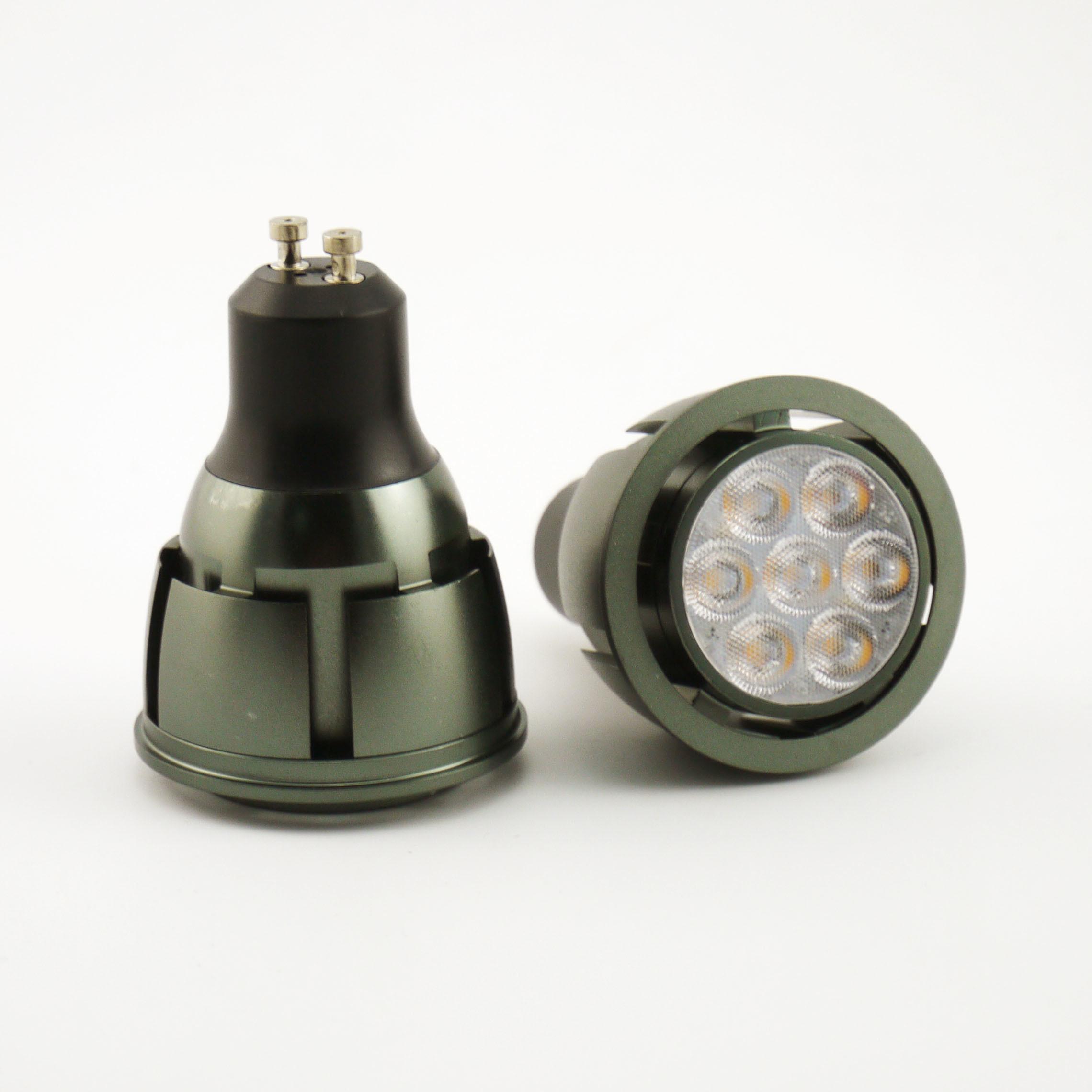 Aluminum 7W SMD LED Recessed Downlight GU10 Bulb