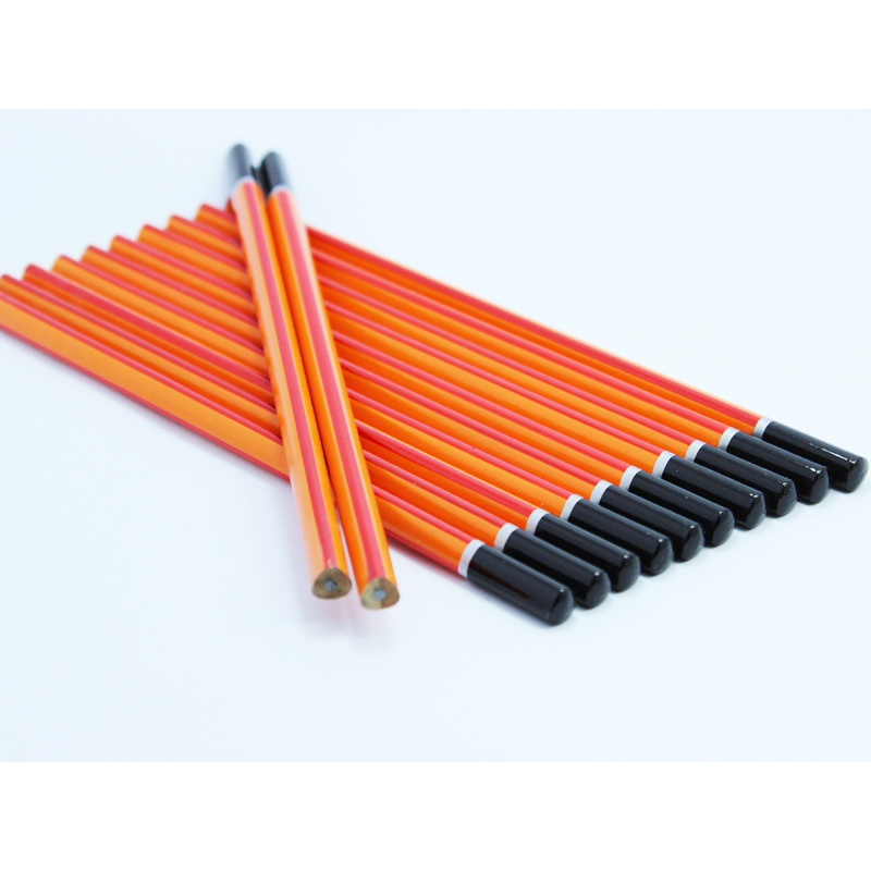 Triangle Pencils Hb with Stripe Painting, with DIP End (3612)