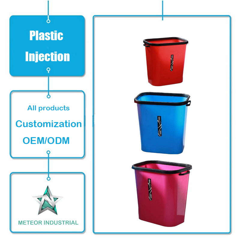 Customized Plastic Injection Moulding Products Daily Use Household Kitchen Plastic Dustbin