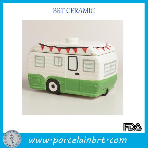 Special Automobile Glazed Porcelain Jar