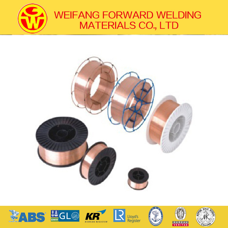 Welding Products 1.6mm 250kg/Drum Er70s-6 MIG Welding Wire Sg2 Copper Solder with CO2 Gas Shielding