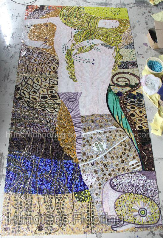 Mosaic Mural, Art Mosaic Picture, Art Mosaic (HMP777)