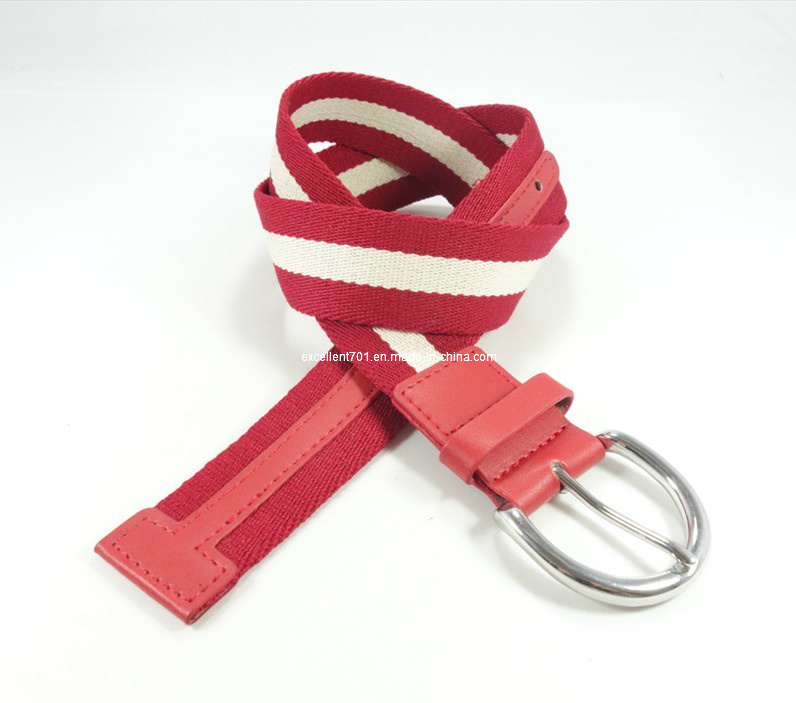 Plain Canvas Waist Belt with Nickle-Free Buckle (EUBL0488-40)