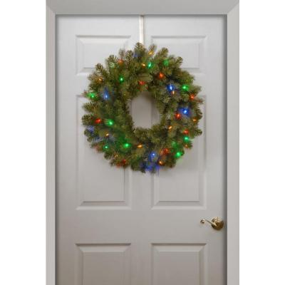 The Cheerful Douglas Fir Christmas Wreath with Its 50 Multi Color LED Lights (MY310.256.00)