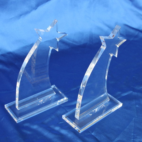 Customize Clear Acrylic Trophy Event Laser Engraved Souvenir Award for Event Winner