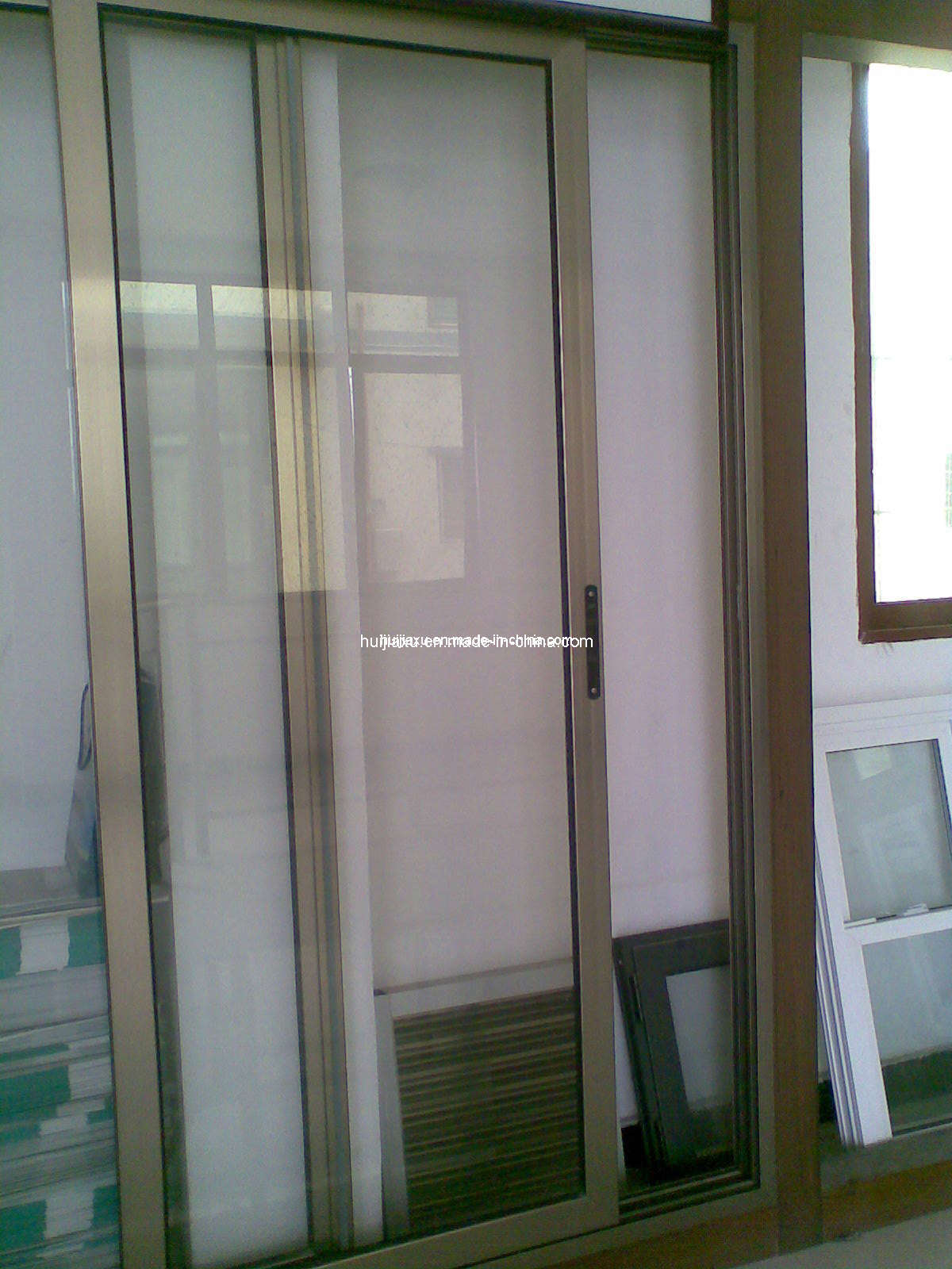 Balcony Sliding Door Balcony Glass Doors: China Aluminium Wood Balcony Sliding Door (HL-217)