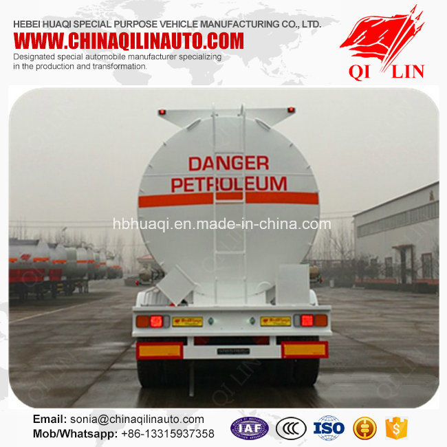 3 Compartments Aluminum Alloy Fuel Tanker Semi Trailer for Africa