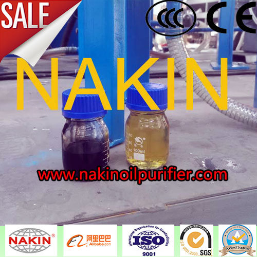 Jzc-1 Ton/Day Black Waste Lube Oil Filtration, Black Waste Engine Oil Distillation