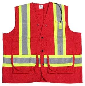 2015 New Design Hi-VI Reflective Safety Vest with Pockets