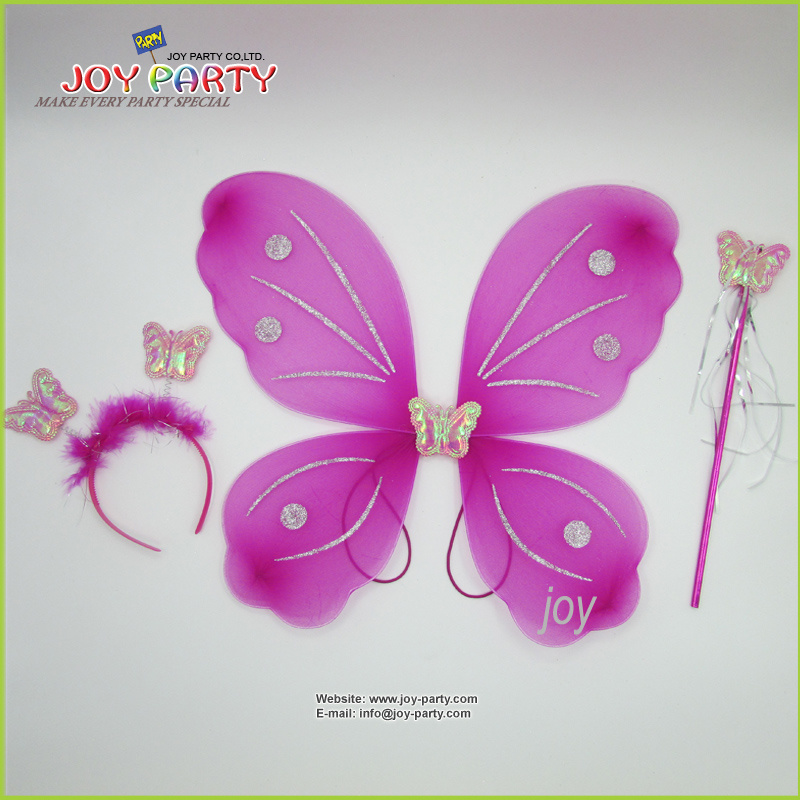 Purple Butterfly Wing Angel Wing Lady and Children Dancerwear