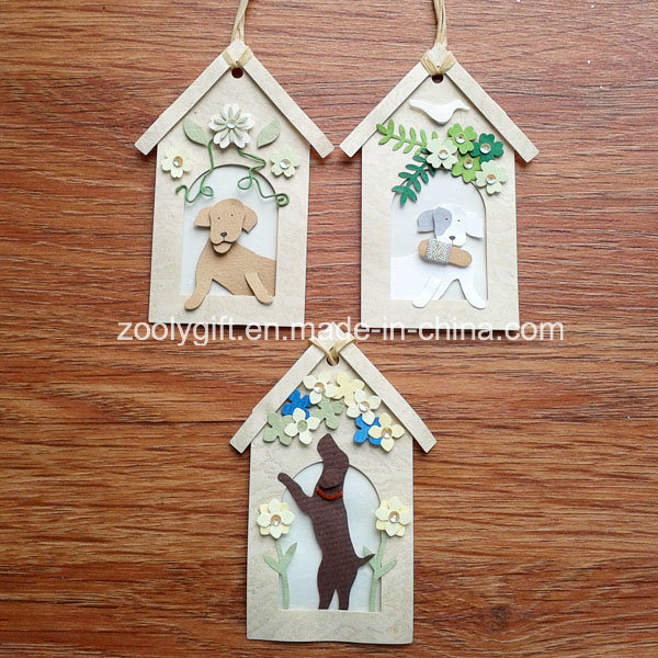 Personalized Decorative Dog House Shape DIY Paper Craft