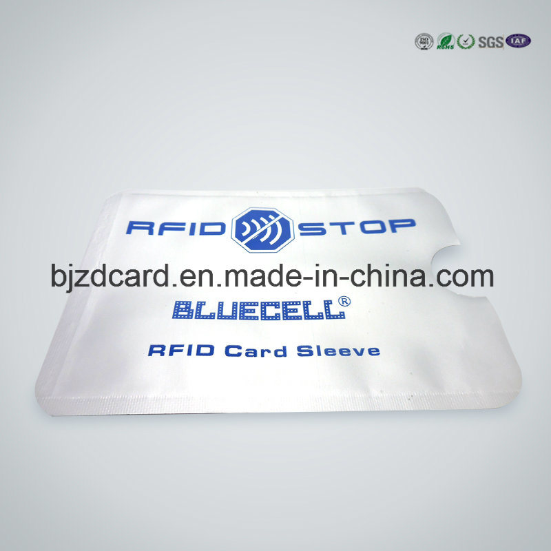 Stunning Custom Aluminum Foil Smart Card Passport RFID Blocking Sleeve
