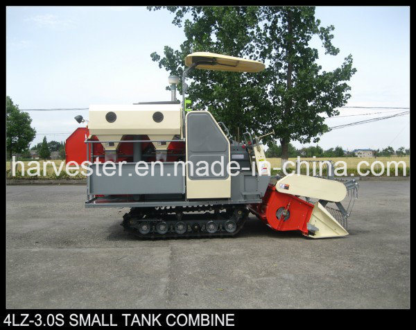 Small Tank Double Thresher Cylinder Vertical Axis Flow Rice Harvester