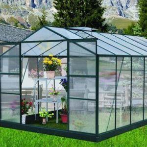 Clear Tempered Green House Glass