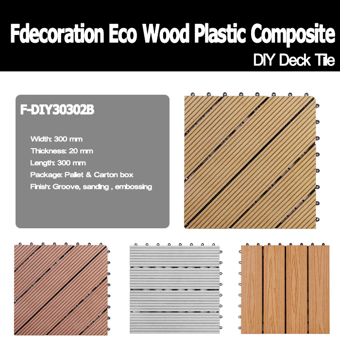 DIY Outdoor Wood Plastic Composite Decking WPC Flooring