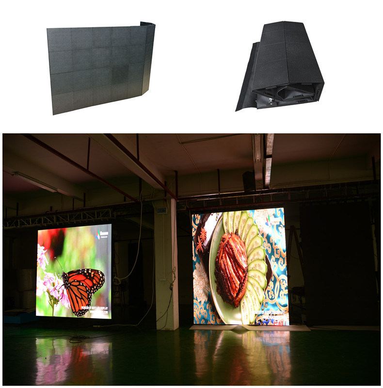 Huasun Galaxias Flexible LED Screen P3 P4 P10 Curved LED Screen