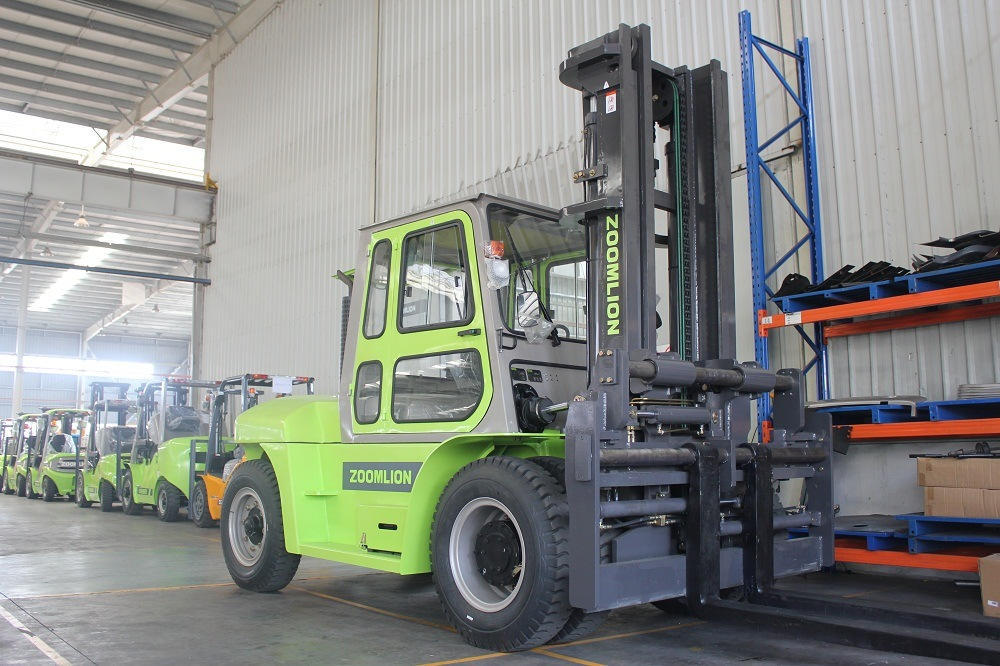 10mt Lifitng Capacity Forklift Truck with Fork Positioner